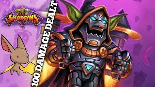 Dealt Over 100 Damage to This Guy | Firebat Hearthstone ft Purple | Rise of Shadows