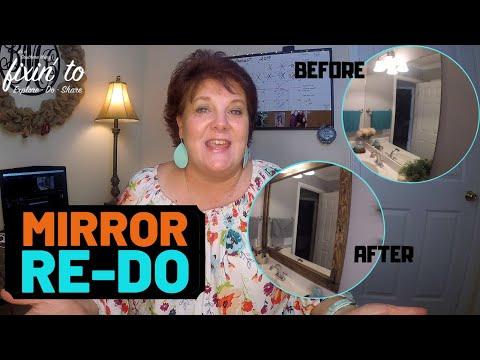 Reclaimed Wood Framed Mirror | Bathroom Redo | Video #2