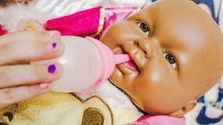 Говорящая кукла Настя Хочет Кушать   Яна КАК Мама Видео для девочек