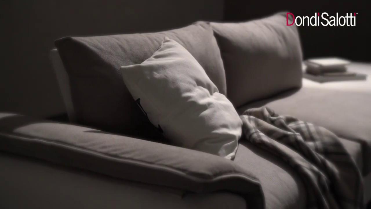 Veronique, divano lineare o anche angolare con sedute estensibili in pelle  o tessuto, Dondi Salotti