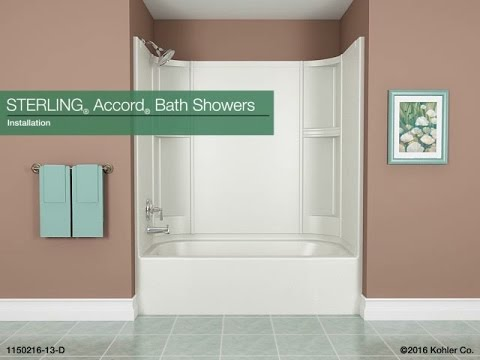 Installation - STERLING Accord Bath Showers - YouTube