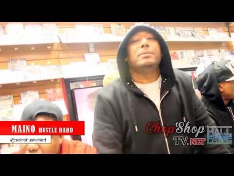 Maino instore at Hall of Fame Music Store Jamaica ave Queens ny on @chopshoptv instagram