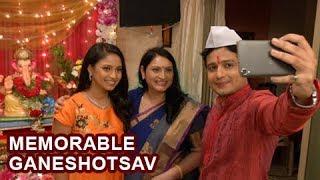 Ganpati Memories of Lek Majhi Ladki Serial | Ashutosh Kulkarni Sayali Deodhar & Smita | Star Pravah