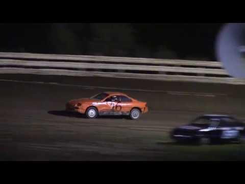 Hummingbird Speedway (9-1-18): Aaron's Four-Cylinder Heat Race #3