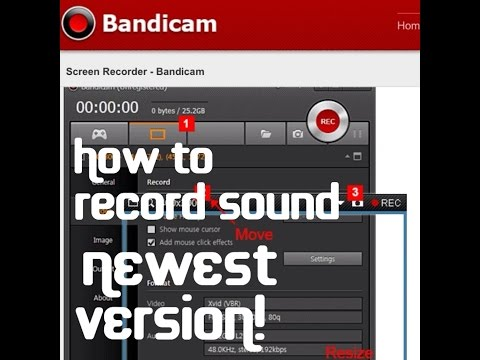 August 2015- NEWEST- How To Record Sound on Bandicam