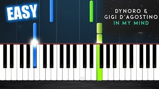Download Dynoro, Gigi D'Agostino - In My Mind - EASY Piano Tutorial by PlutaX Mp3 and Videos