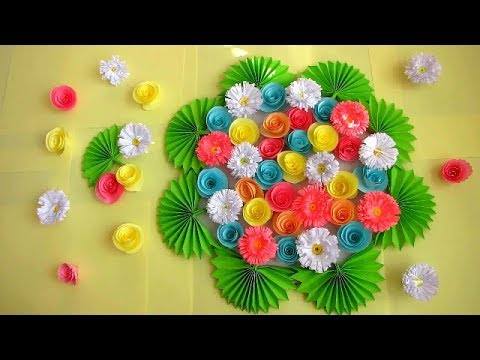DIY. Simple Home Decor. Wall Decoration. Hanging Flower. Paper Craft ...