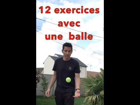 12 exercices avec une balle - YouTube