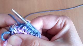 Аккуратный край изделия | как набрать петли на спицы | набор петель | описание начала вязания  |