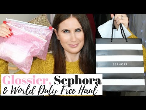 GLOSSIER SHOWROOM, SEPHORA AND WORLD DUTY FREE HAUL!