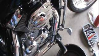 how to do an oil change on a honda shadow spirit 750 part 1 tools and parts needed