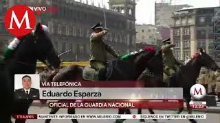 Guardia Nacional en el desfile de la Revolución Mexicana: Eduardo Esparza