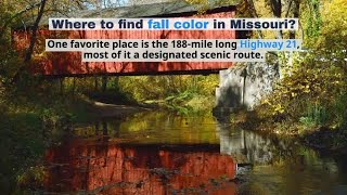 Watch now: Where to find fall color in Missouri?