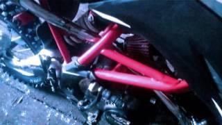 Обзор отремонтированного глушителя на питбайк, поломка в скутере