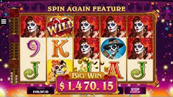 Beautiful Bones Slot - Big Win & Game Play - by Microgaming