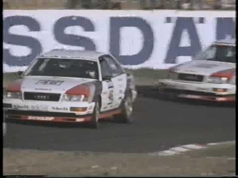 Audi V8 Quattro DTM 1990 -1991 dreifacher V8 Sieg durch Piloten H. Stuck, F. Biela, F. Jelinski