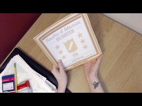 Binaural ASMR Making of Papers Please Roleplay--Vinyl, Paper, and Office Sounds