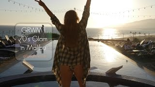 Get Ready With Me + Edson_DoesHair at Derma-e Malibu House | 70's Hair + Makeup