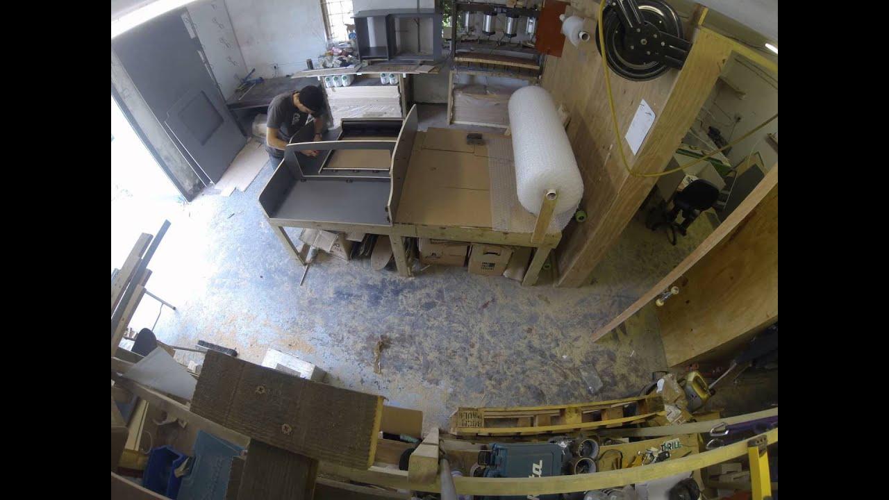 aufbau einer unserer flatpack premium camper units f r ihren vw t5 innenausbau youtube. Black Bedroom Furniture Sets. Home Design Ideas