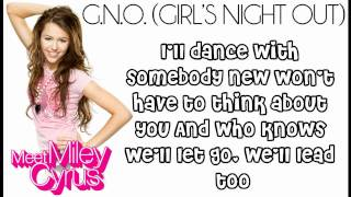 Watch Miley Cyrus GnoGirls Night Out video