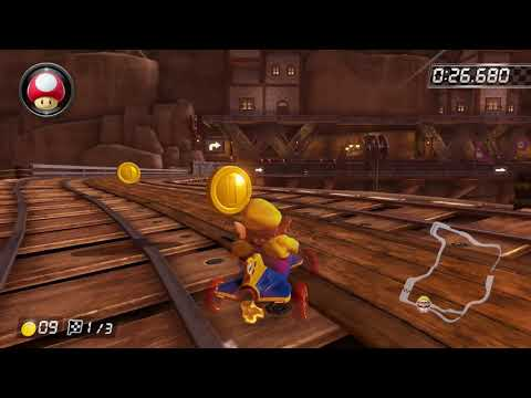 Wii Wario's Gold Mine [200cc] - 1:25.817 - CokeGaming (Mario Kart 8 Deluxe World Record)