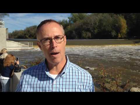 Rep. Jared Huffman on Sonoma County Water Agency's new fish ladder, viewing gallery