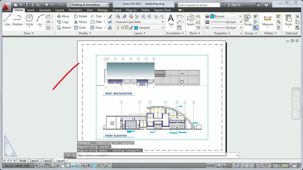 Autocad 2013 Tutorial How To Plot A Drawing Layout Youtube
