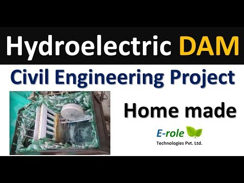 Hydroelectric dam civil engineering project