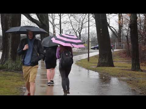 Red Cedar River floods parts of MSU campus