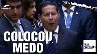 Tom de discurso do General Mourão ao ser empossado com Bolsonaro 'assusta' corruptos