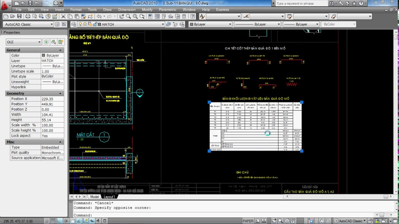 Autocad Cực hay – Cách sửa lỗi excels bị mờ khi in — How to fix matte excels in cad !