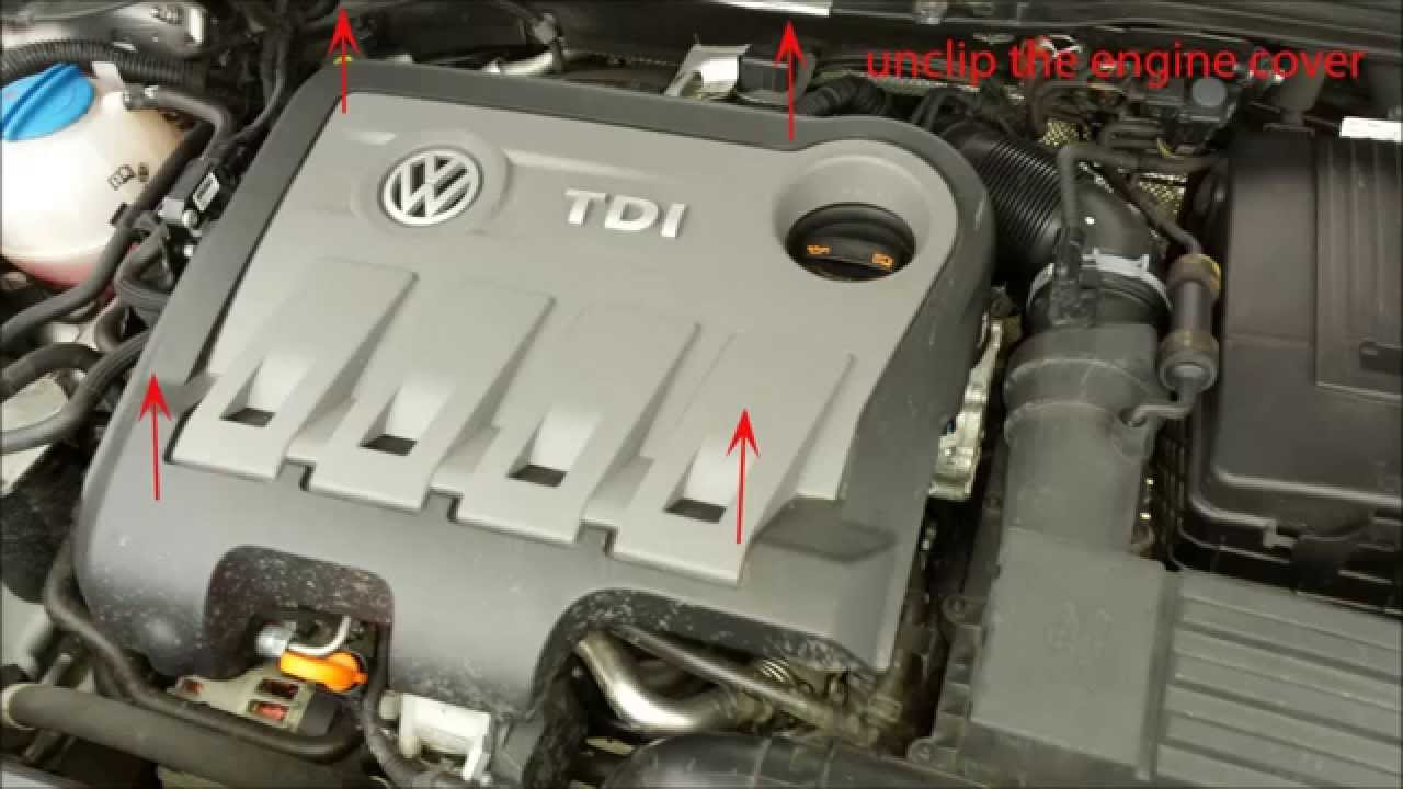how to change passat engine oil