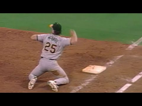 OAK@TOR: McGwire starts 3-6 double play after dive