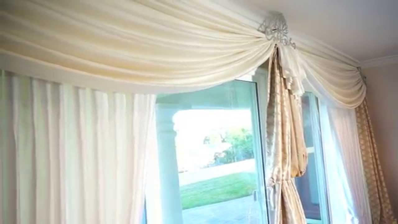 of fabric watch how curtains curtain make sliding youtube to gliding panels instead