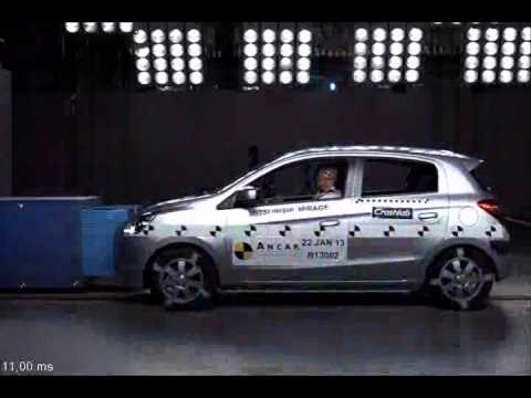 Mitsubishi Mirage (from 2013) - 5 star ANCAP safety rating