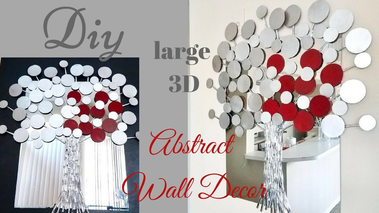 Diy Large 3D Abstract Tree Wall Decor |Dollar Tree Wall ...
