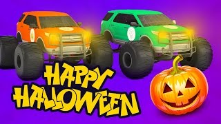 Halloween Night Scary Monster Truck | Halloween Monster Truck | Halloween Video Cartoon for Kids