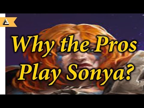 Why do the pros play Sonya? An analytical look on Pro Play