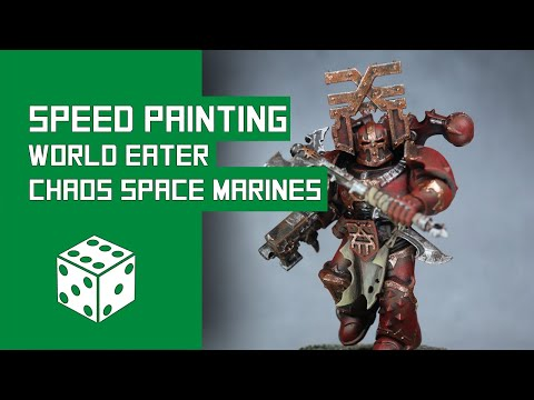 How To Speed Paint World Eaters: Warhammer 40k Chaos Space Marine Tutorial