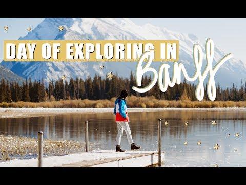 EXPLORING BANFF, CANADA | Vermillion Lakes + Bow Falls