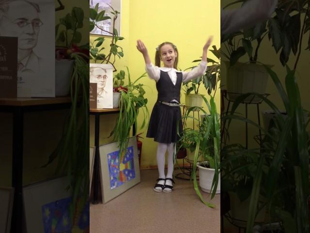 Изображение предпросмотра прочтения – ВикторияХацкевич читает произведение «Весна (Зима не даром злится…)» Ф.И.Тютчева