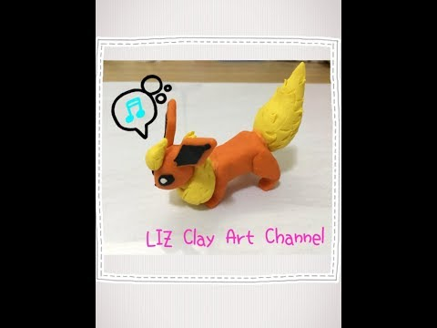 【Polymer Clay】Flareon (ブースター) Clay Figure /Eevee's evolutions Part 3【ブイズ】/ Pokemon Clay