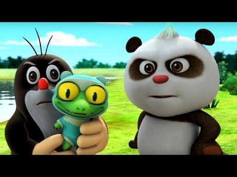 Кротик и Панда  - сборник - Все серии про нянек Кротика  и Панду-  развивающий мультфильм