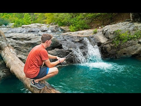 Exploring & Fishing EPIC Waterfalls HIDDEN In The Mountains