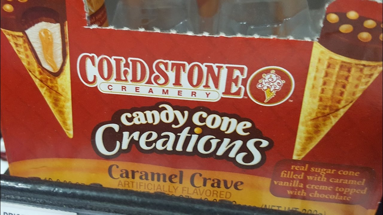 cold stone candy cone creations caramel crave review we. Black Bedroom Furniture Sets. Home Design Ideas