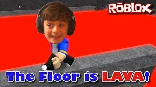 Roblox Let's Play: The Floor is LAVA! - Don't Get Burned!