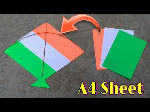 how to make kite,patang kese banate hai,best tri colour kite making for independence day,paper kite
