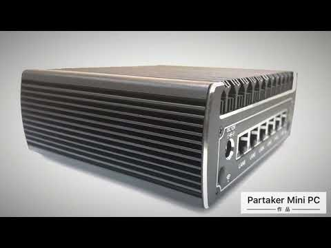 Fanless hardware firewall pfsense mini pc Kaby Lake celeron 3865U 3855U with 6*RJ45 LAN router