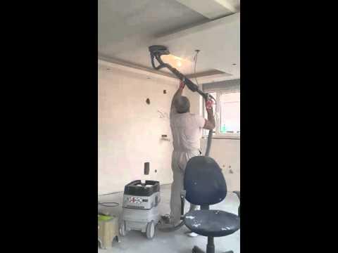 smirglanje spustenog plafona