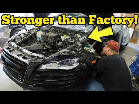 I Repaired My Totaled Audi R8's Cracked Frame for $500! Insu